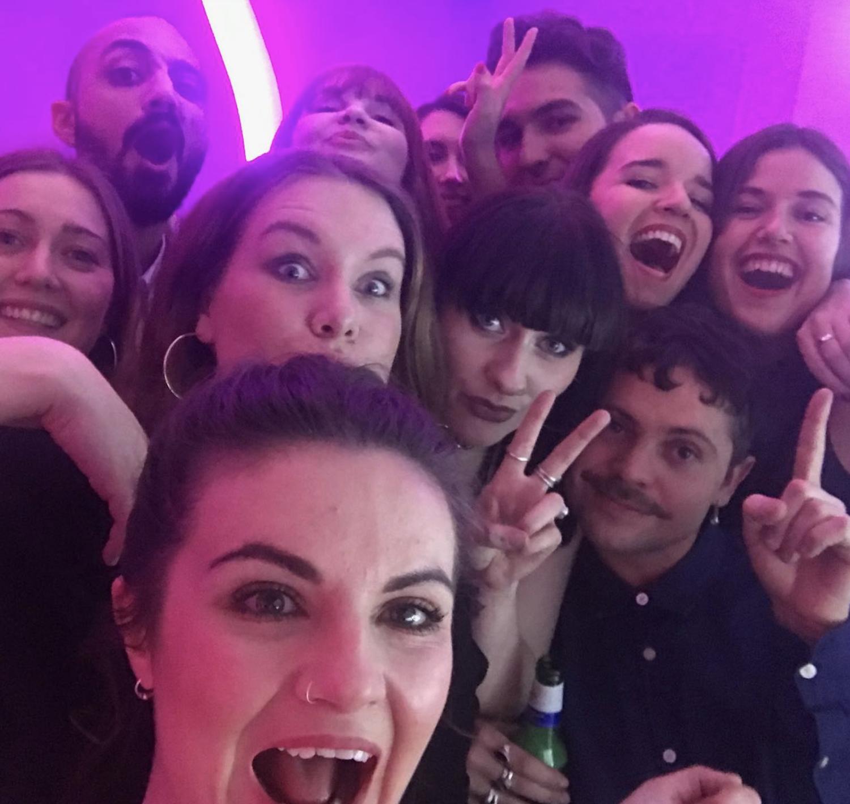 Launch event selfie
